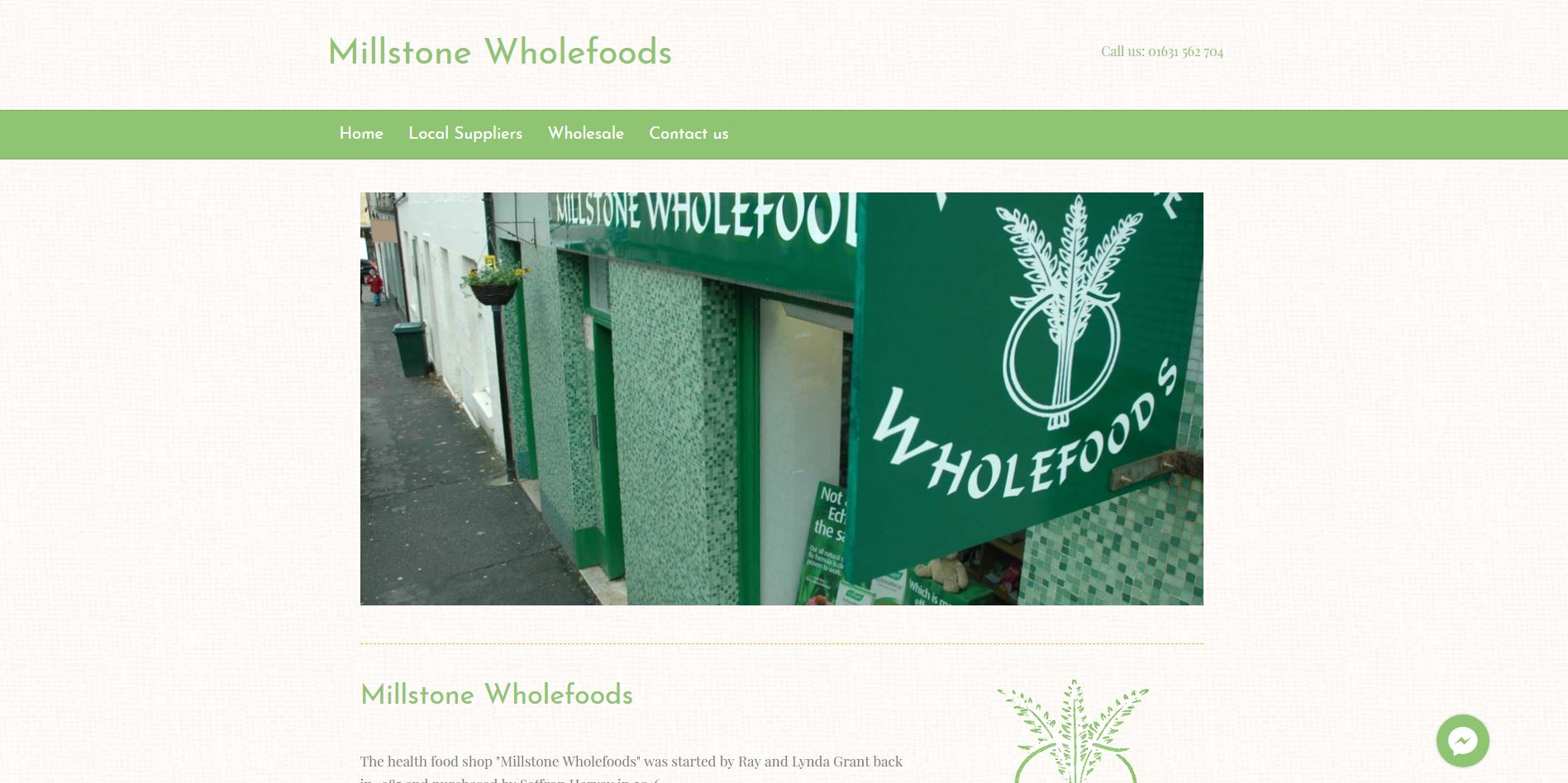 Millstone Wholefoods website