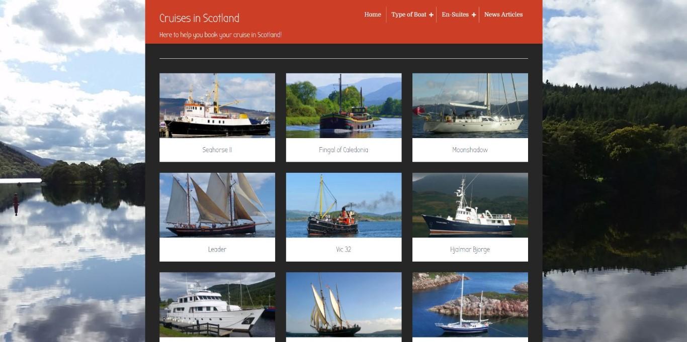 http://cruisesinscotland.com screenshot